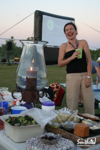 outdoor school movie event