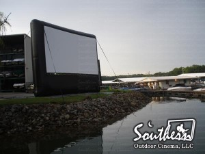 boat in outdoor movie rental