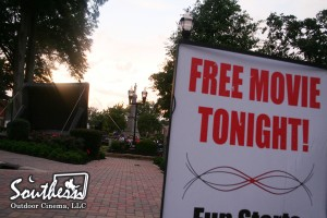Advertising Outdoor Movie Night
