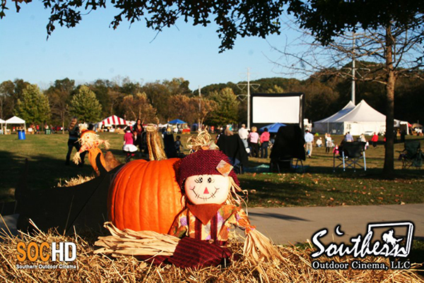 Outdoor movie events in the fall