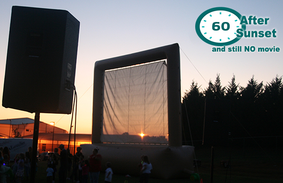 Atlanta DJ Outdoor Inflatable Movie Screen