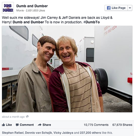 Dumb and Dumber filming in Atlanta