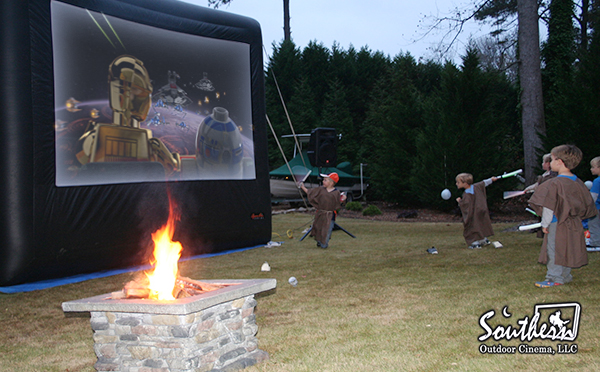 Atlanta backyard Star Wars movie party