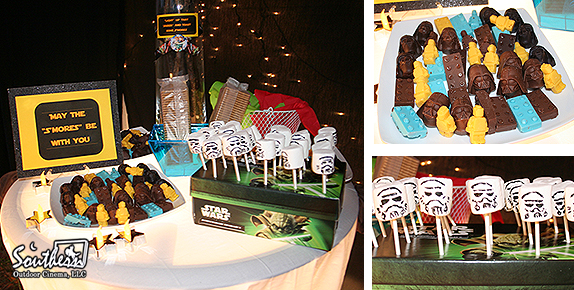 Star Wars movie snacks at outdoor movie