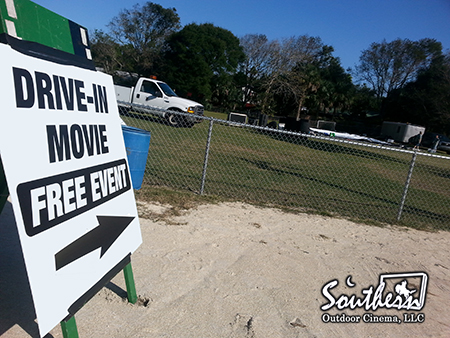 Christmas drive-in event in Florida