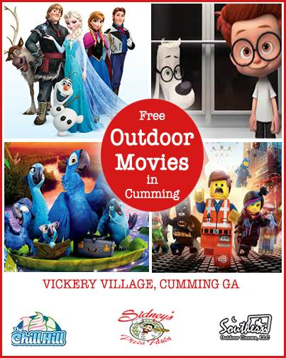 Summer Outdoor Movies in Cumming GA Forsyth County