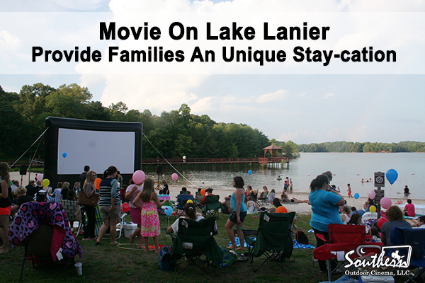 Outdoor Movie On Lake Lanier