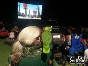 Pets enjoy outdoor movie event