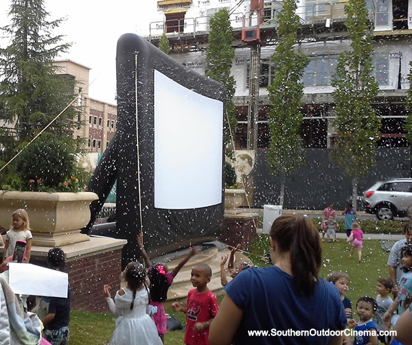 Rent a snow machine for a Frozen Outdoor  Movie Event