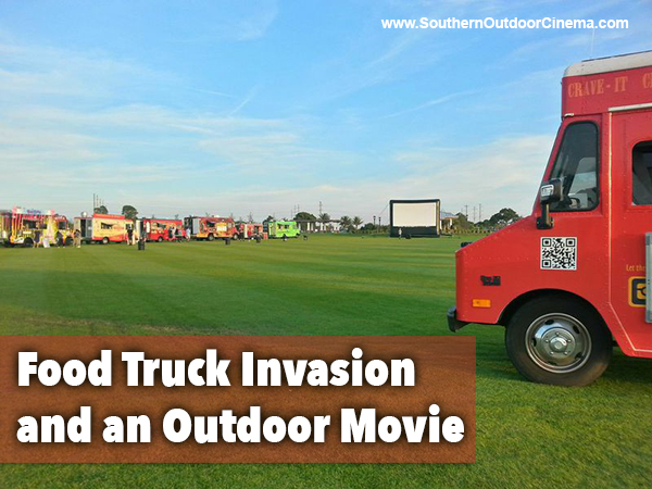 Food truck invasion and an outdoor movie