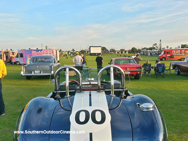 Classic car, cobra at Movie night