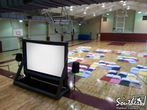 Movie night in College Gym