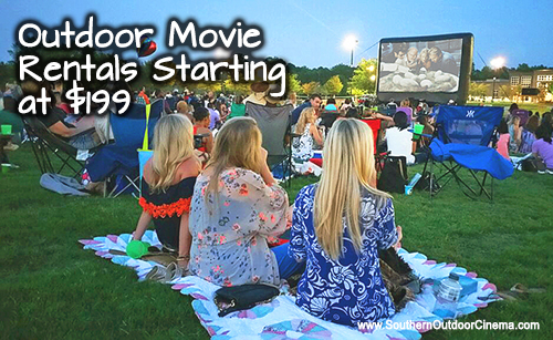 Funflicks outdoor movie rental $199 in Atlanta