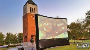 Outdoor Movie Clock Tower