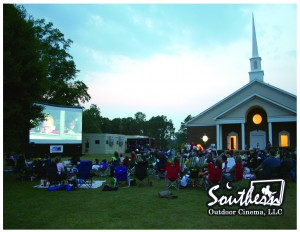 Southern Outdoor Cinema hosts family movie night at church.